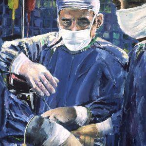Art magic hands of surgeon performing surgery