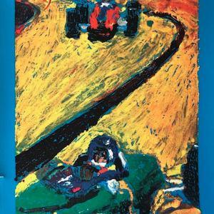 Race Care Lithograph Watkins Glen