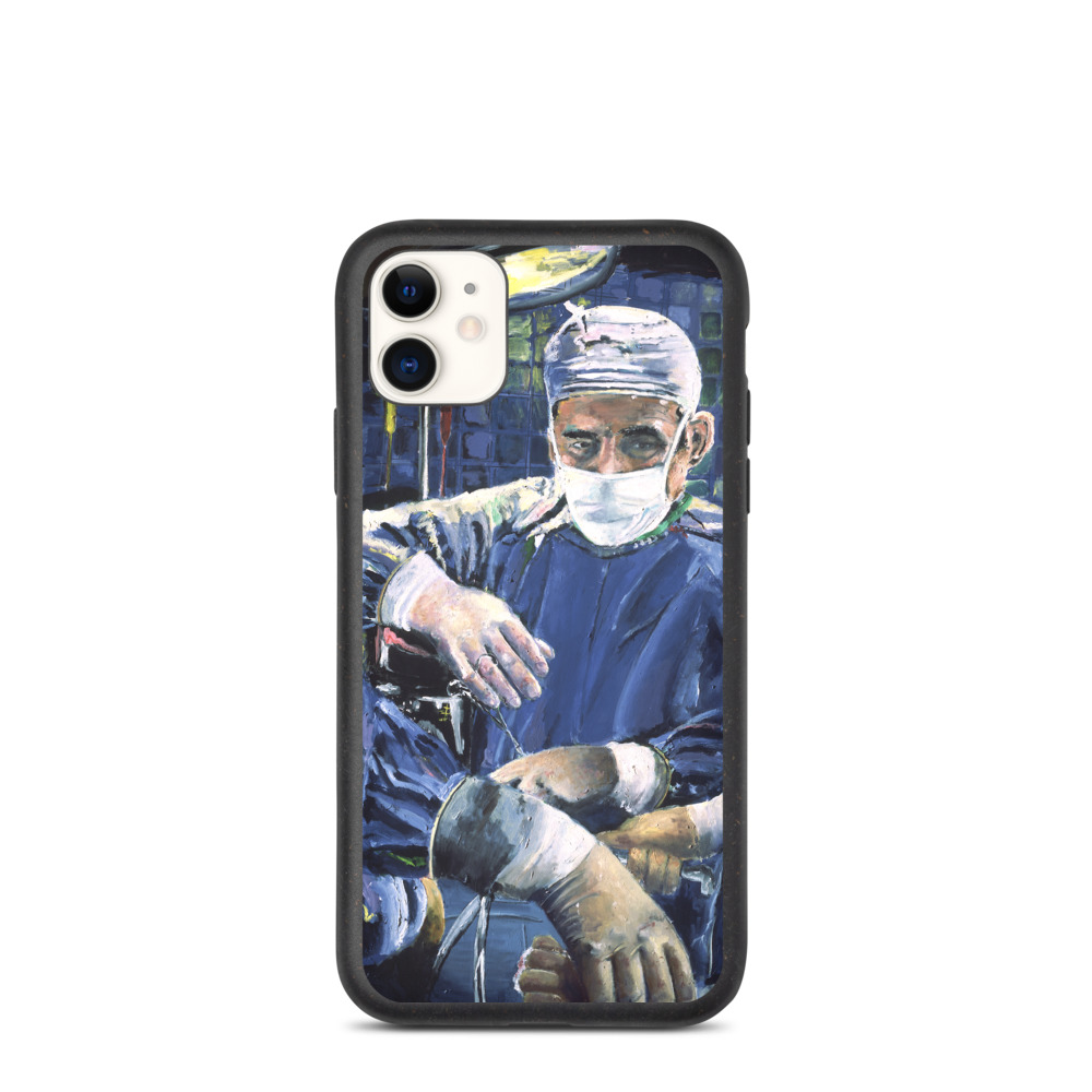Magic Hands of the Surgeon Biodegradable phone case