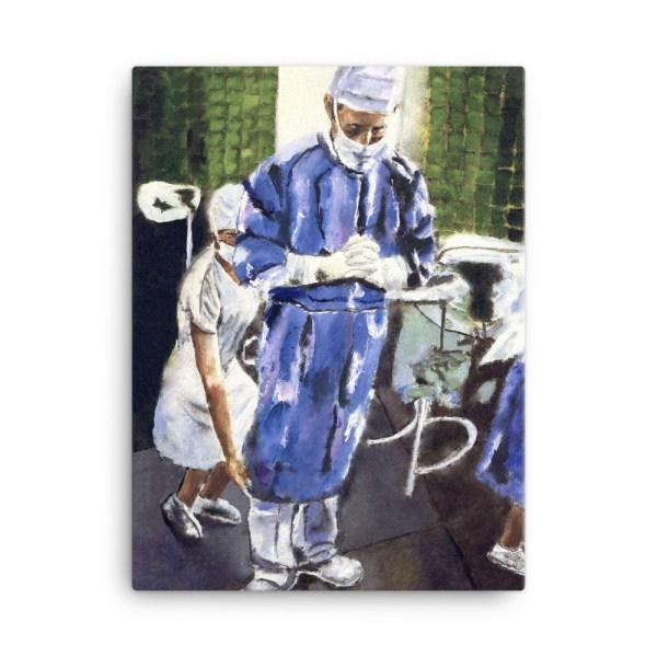 Contemplation Before Surgery Art Canvas Print 18*24