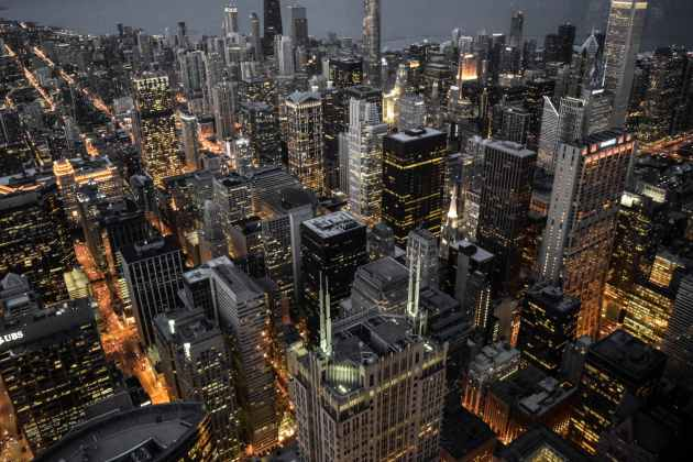 aerial photography of building city lights