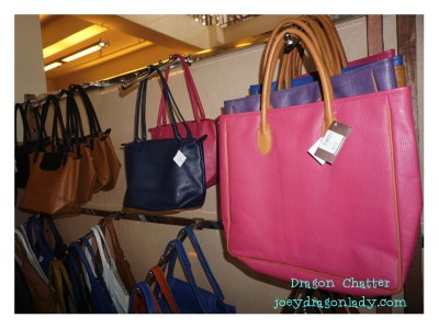 Pink leather bags