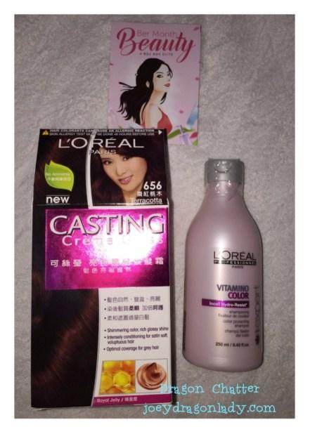L`Oreal Paris Castng Creme Gloss and L`Oreal Profesional Vitamino Color Shampoo