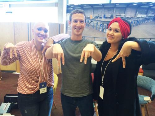 Abby Asisitio with Mark Zuckerberg