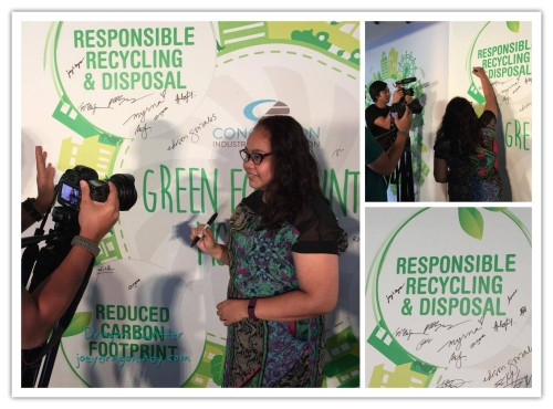 Green Footprints Movement Advocacy signing