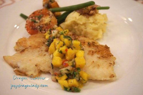 Mario`s Tomas Morato Pan Fried Fish Fillet with Mango and Cilantro Salsa