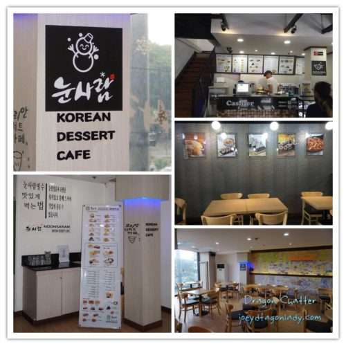 Noonsaram Korean Dessert Cafe Interior