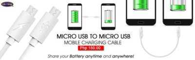 As far as gadget technology are concerned, you can now extend battery life of one gadget to another thru Miro USB to Micro USB mobile charging cable.