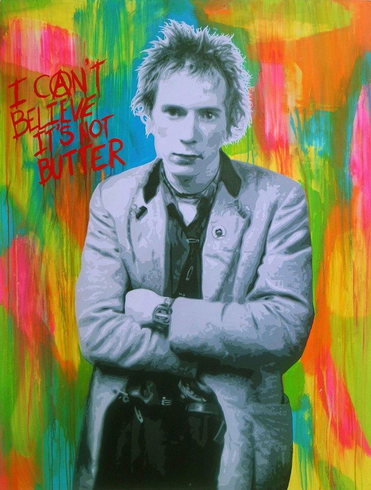 Pop Art, art, Joey Maas, Palm Springs Art, Johnny Rotten, Lydon, Sex Pistols, PIL, Punk, Anarchist