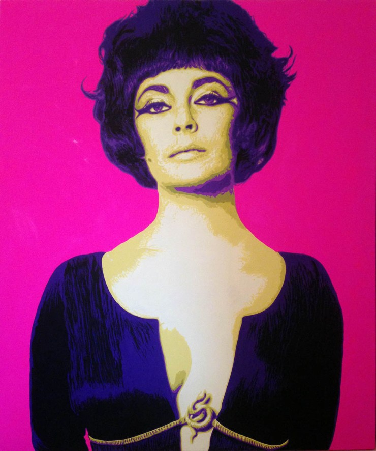 Pop Art, art, Joey Maas, Palm Springs Art, Elizabeth Taylor, Liz Taylor,