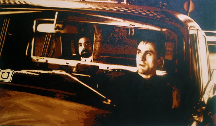 Pop Art, art, Joey Maas, Palm Springs Art, robert deniro, taxi driver, uber