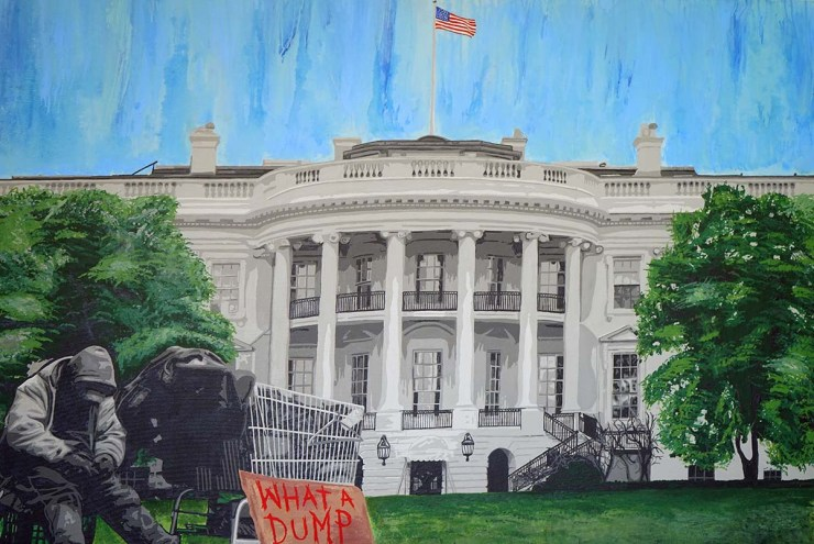 Pop Art, art, Joey Maas, Palm Springs Art, donald trump, white house, dump, homeless, drumpf