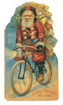 By the end of the 1800s, Santa had begun to look like we know him today, all the vestiges of a stern Bishop gone, the color scheme and basic outfit in place.