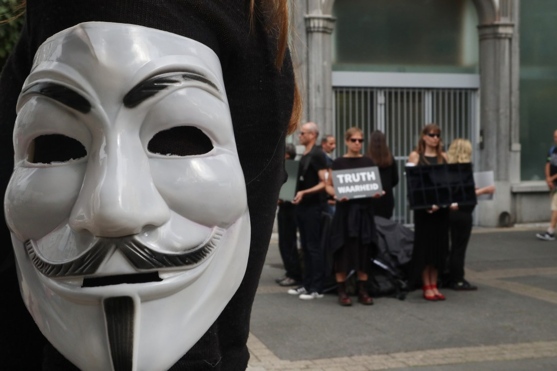 Seeking for truth: The anonymous protesters.
