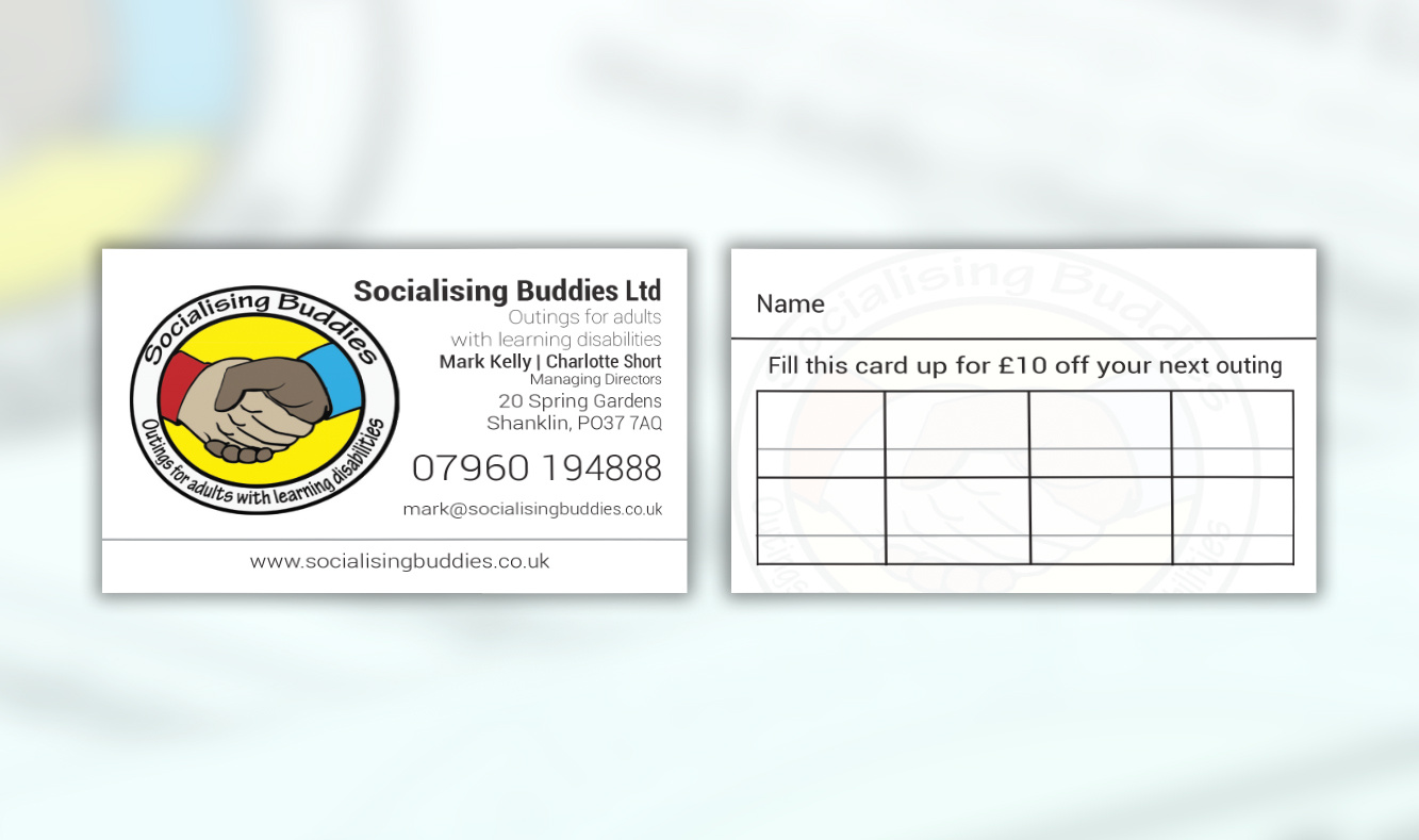 Socialising Buddies Business Cards