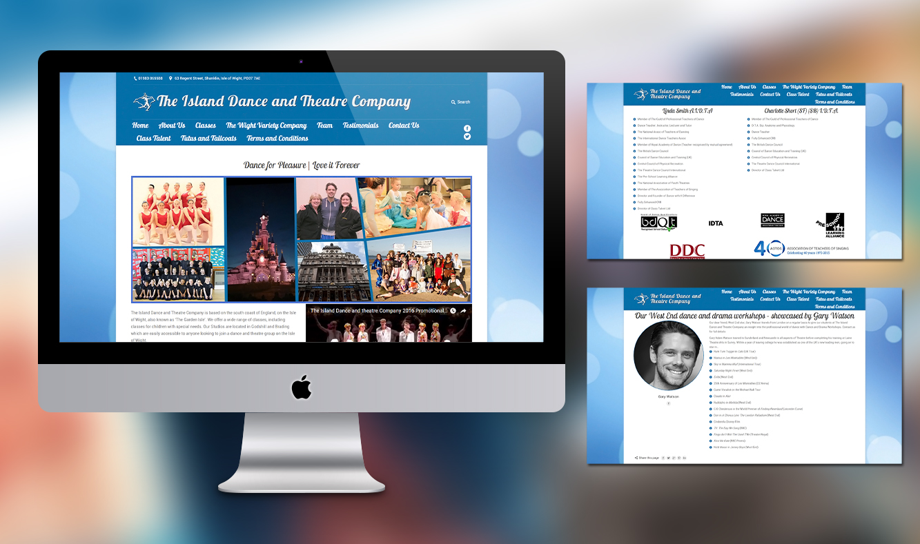 The Island Dance and Theatre Company Website