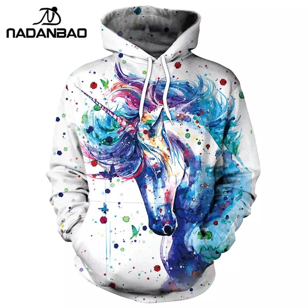 Men's Clothing Psychedelic Fireworks Digital Print Tide Men Sweatshirts Harajuku Casual Hoodies Hoody Colorful Lines Gradient Hooded Tops
