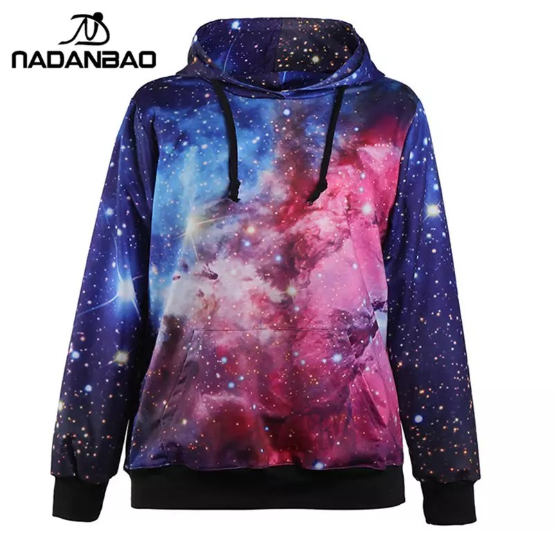 Psychedelic Fireworks Digital Print Tide Men Sweatshirts Harajuku Casual Hoodies Hoody Colorful Lines Gradient Hooded Tops Hoodies & Sweatshirts