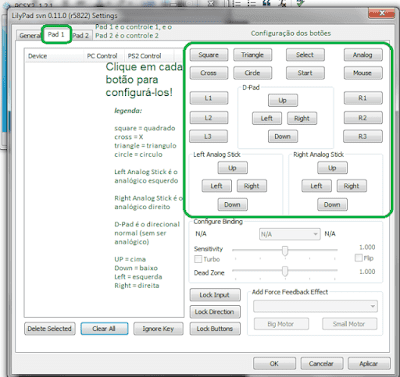 Imagem Configurando o Joystick