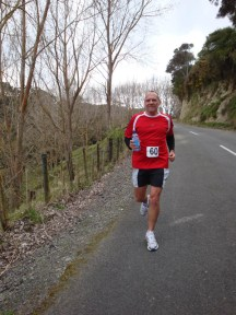 A long and most enjoyable downhill stretch on Gerry's first leg.