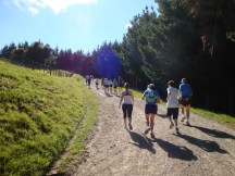 Halfway up the 200m climb at the start of the race