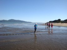 River-crossings added a bit of excitement to the race. Kapiti island is on the left.