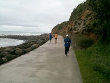 Sharing the path with some other runners also working off the X-mas binge.