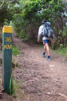 Almost halfway, 35km done, 36 to go.