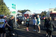 Nettie, myself and Gerry at the start on a lovely sunny, albeit chilly, morning. [Photo © Johann van der Merwe]