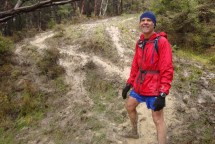 This may have been a single track before runners created new routes to get down the hill.