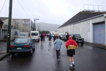 The buildings provided some welcome protection against the worst winds as we ran through the industrial areas of Lower Hutt.