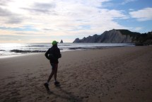An early morning run along the beach with the wind at your back - life doesn't get much better than this!