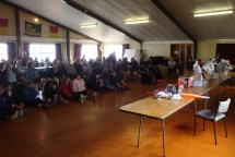 Prize-giving at the Foxton Beach Surf Club.
