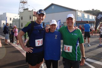Johann, myself and Gerry shortly before the start of the marathon.