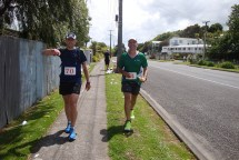 Johann and Gerry only about 4km before the finish.