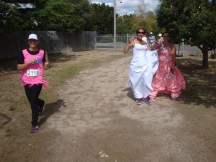 Incredible to even see a bride and bridesmaids among the fancy dress teams.