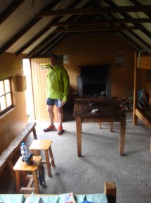 Although Meg Hut is quite basic, the shelter it provided from the elements felt like the height of luxury.