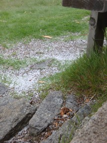The result of one of the sleet storms.