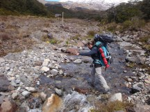 A final small stream before reaching the hut.