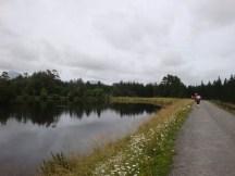 Running along the banks of Lake Mangamahoe.