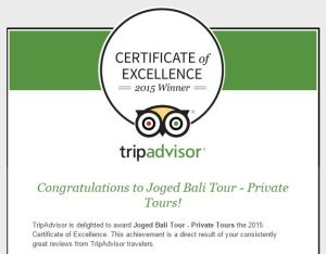 Capture - TripAdvisor Certificate of Excellence