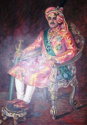 सर उपाधि से सम्मानित मंडी के राजा जोगिन्द्र सेन की एक पेंटिंग, जिनके नाम पर सकराटी गाँव का नाम जोगिंदर नगर पड़ा