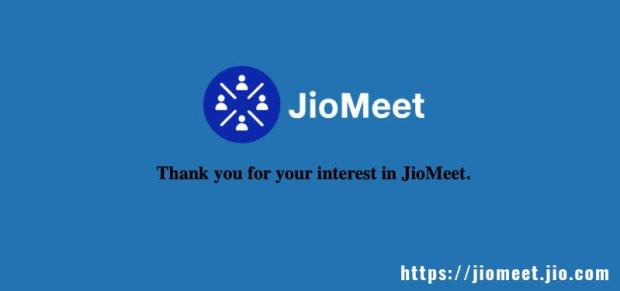 Reliance Jio Meet website