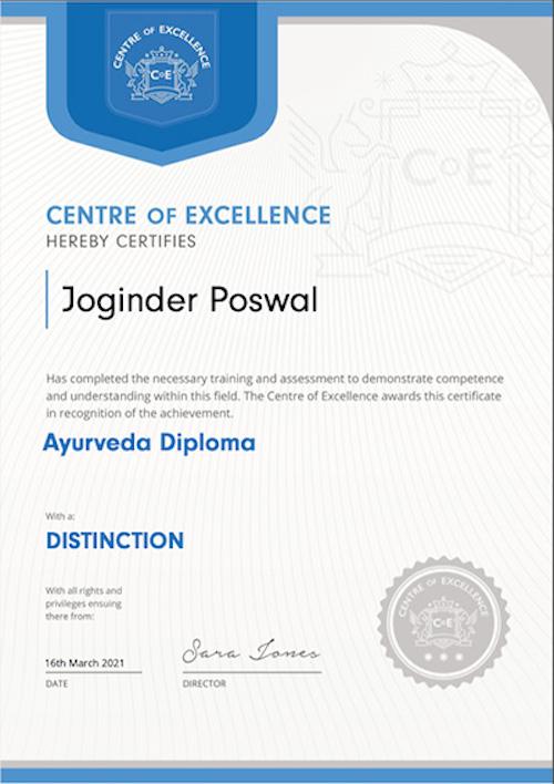 Diploma in Ayurveda
