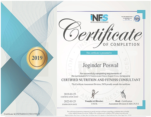 Nutritionist Fitness Certification