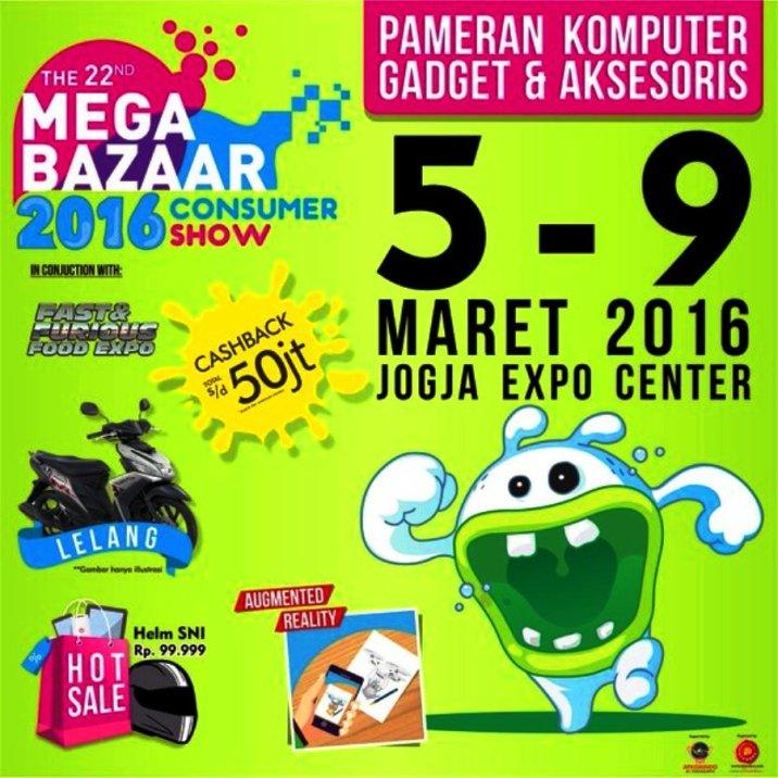 Jadwal Pameran Komputer JEC Mega Bazaar Consumer Show Maret 2016 Jogja Expo Center