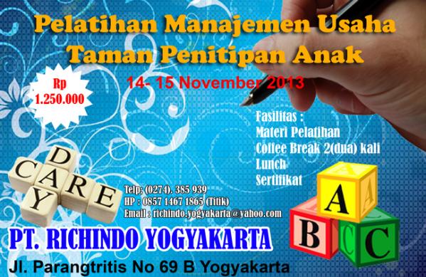 pelatihan manajemen usaha taman penitipan anak nov 2013