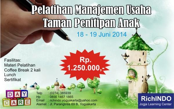 Pelatihan Manajemen Usaha Taman Penitipan Anak Juni 2014