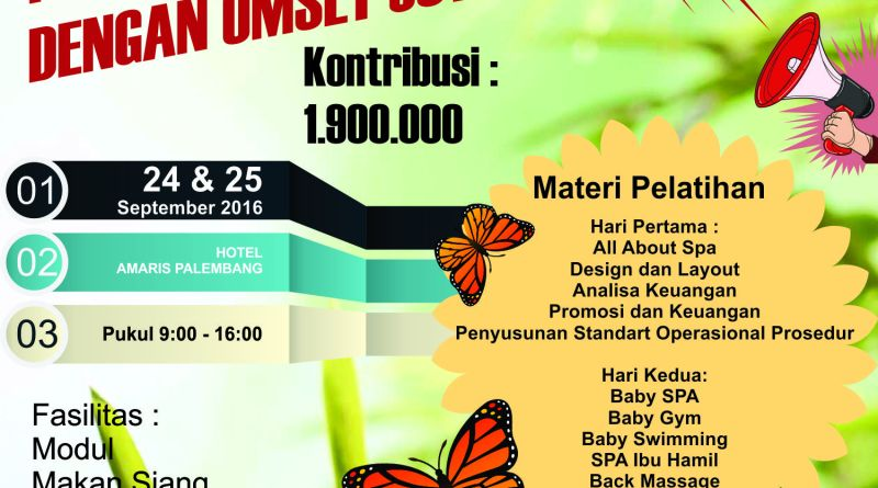 Pelatihan Mom and Baby Spa Palembang