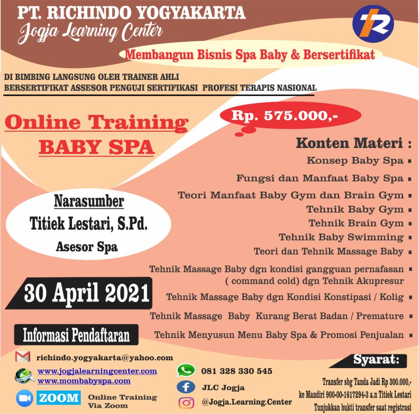 ONLINE TRAINING BABY SPA